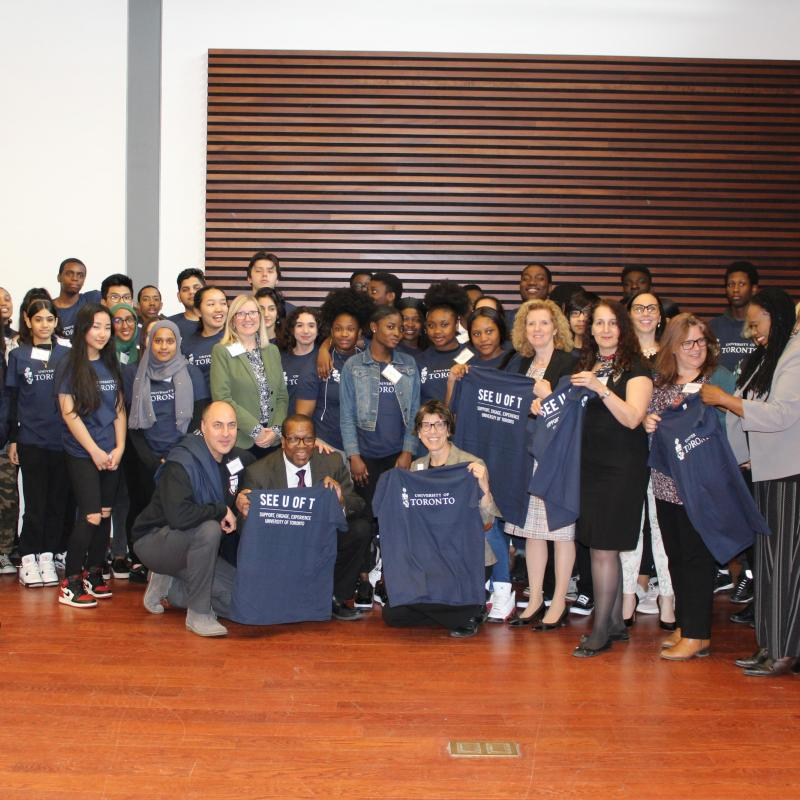 Students and staff at the launching of the SEE U of T Program