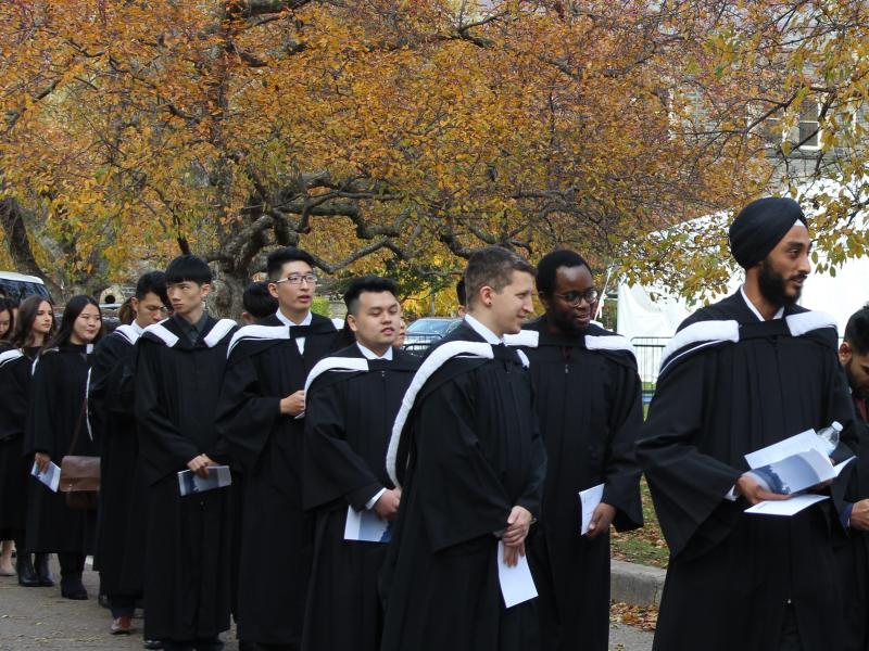 Fall Convocation procession